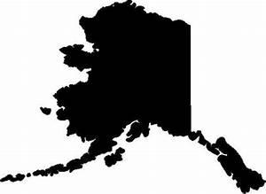 Alaska state vinyl decal/sticker silhouette eBay