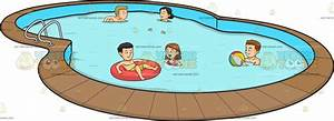 Friends Swimming Clipart - ClipartXtras