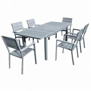 Table Jardin Composite : salon de jardin bois gris table ronde salon de jardin maison email ~ Teatrodelosmanantiales.com Idées de Décoration
