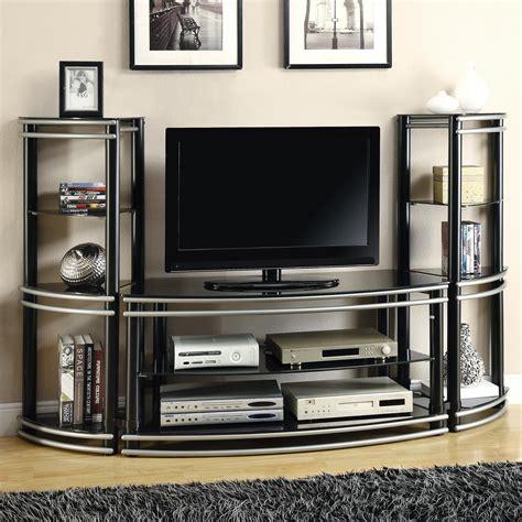 saginaw on wall units furniture coaster entertainment units demilune black silver finish