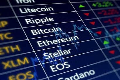 Crypto Bitcoin Cryptocurrency Background Ticker Market Stocks