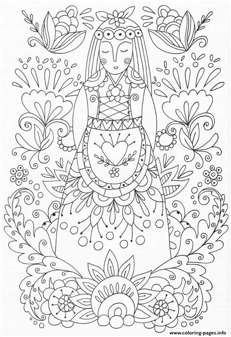 Coloring For Adults by Advanced Flowers Zen Coloring Pages Printable