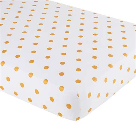 gold crib sheet baby sheets gold dotted crib fitted sheet the land of nod