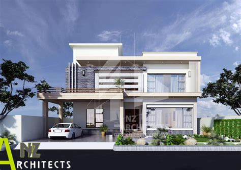 aesthetic house design  dha islamabad nz architects