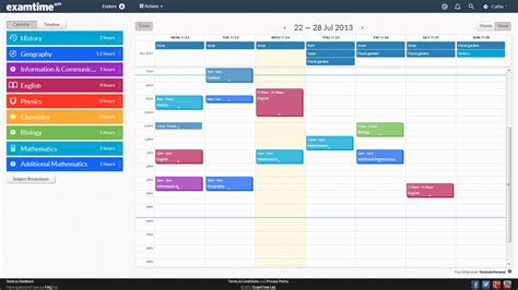 timetable template create a revision timetable with examtime s new study tool