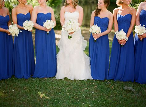 bridesmaid dresses in royal blue royal blue wedding ideas and wedding invitations