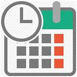 Icon Date Vector Current Organizer Icons Flat