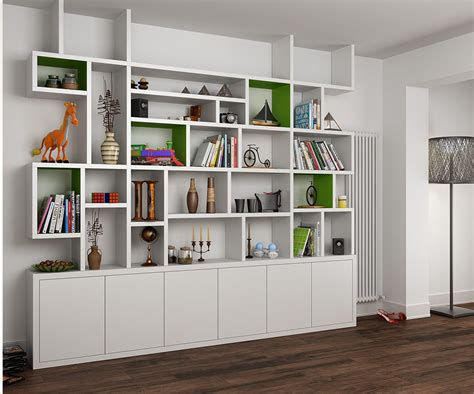 living room bookshelves and cabinets mdf painted bookcase in the living room bookshelves