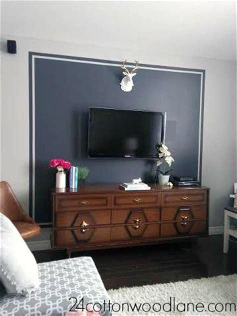 dark grey tv accent wall wall  bed wall  tv
