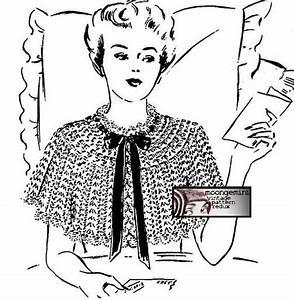 Pdf Shoulder Cape Bed Jacket Vintage Crochet Pattern