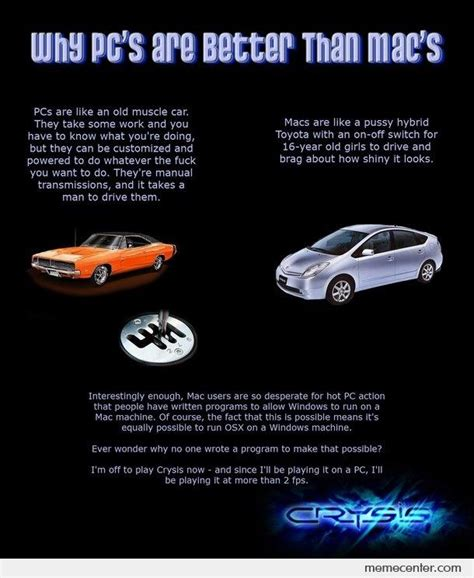 Mac Vs Pc, Car Explained. By Ben