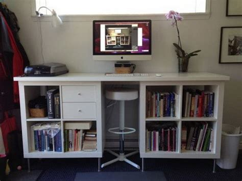 ikea expedit bureau 25 ikea kallax or expedit shelf hacks hative