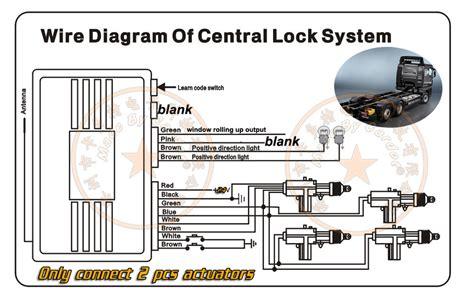 24v vehicle keyless remote central lock system 2 doors sries 1 master 1