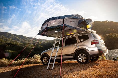 road trip roof top tent  ikamper hiconsumption