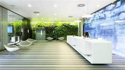 workplace element green living plant walls office