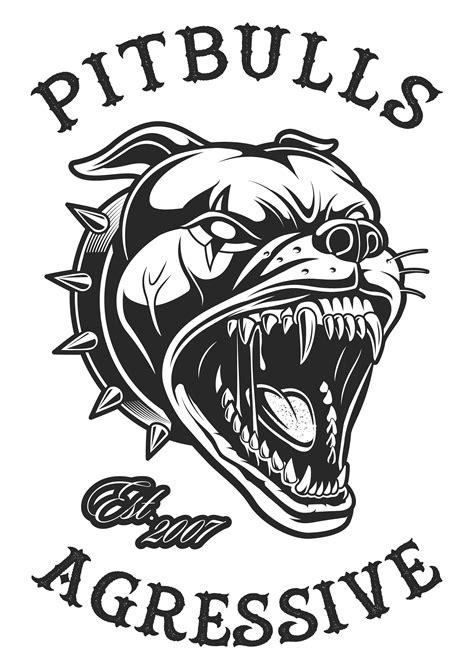 head  angry pitbull   vectors clipart