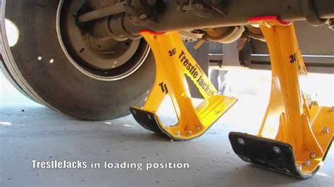 Boat Trailer Axle Jack by Trestlejacks Lifting A Trailer Link In 7 Minutes Youtube