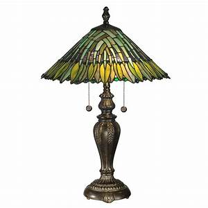dale tiffany 26 in leavesley fieldstone finish table lamp With b h s table lamp shades