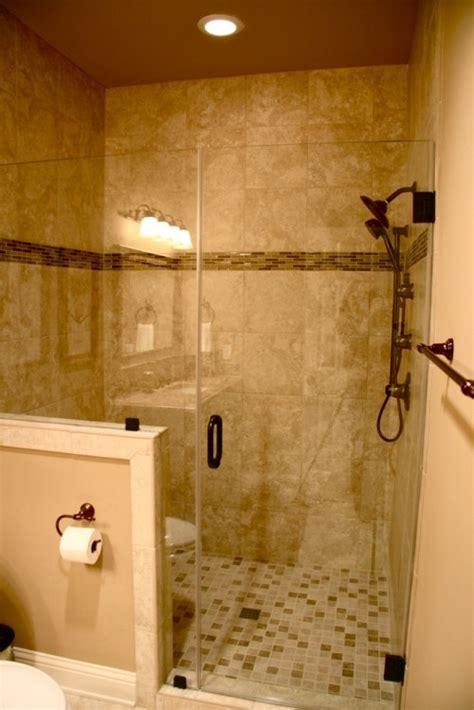 shower half wall tile in shower for the home pinterest