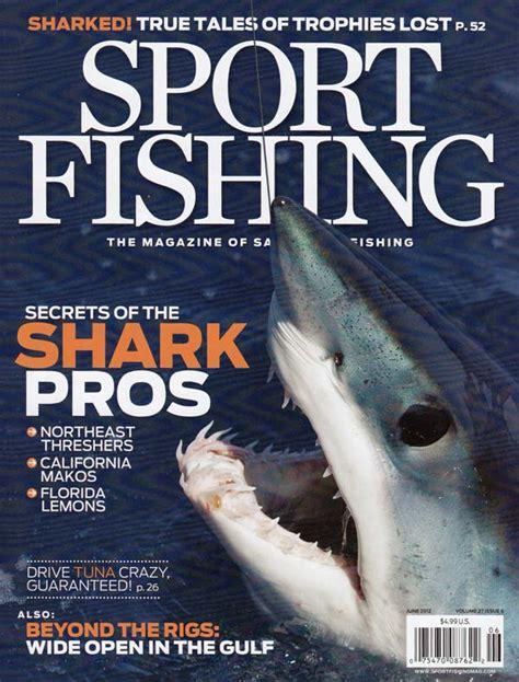 fishing magazine sport articles shark june