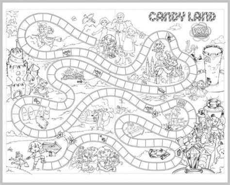 candyland board game coloring page  children fun