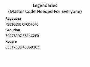 Pokemon Emeraldsapphireruby Gameshark Codes