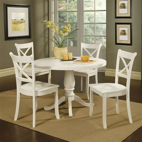 white breakfast table set white dining table with dark