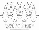 Winter Coloring Trees Snow Pages Four Wishlist Removed Added sketch template