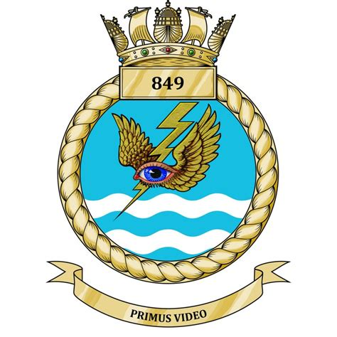 849 Nas  849 Naval Air Squadron  Unit Badge  Crest Plaque