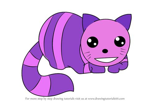 Step By Step How To Draw Kawaii Cheshire Cat