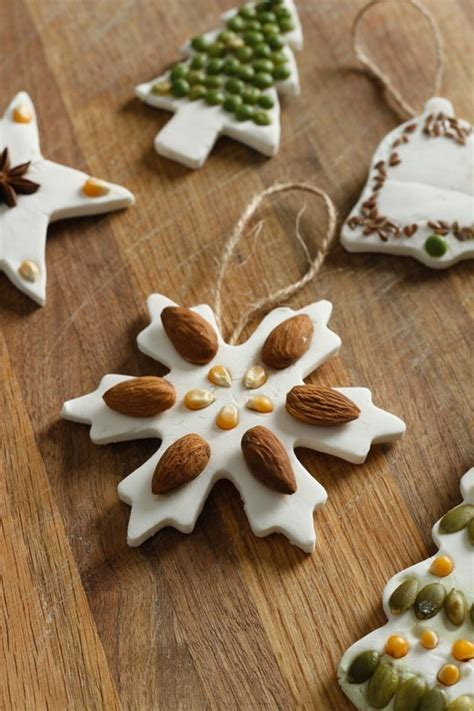 nut  seed salt dough ornaments fun family crafts