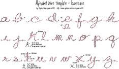 alphabet wire template uppercase photo    print