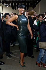 Jennifer Hudson Leather Dress