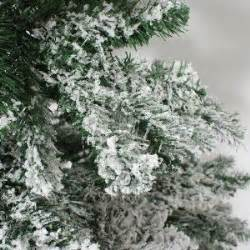 7ft snow covered flocked downswept artificial christmas tree from festive lights christmas