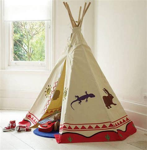 Tipi Für Kinderzimmer by Tipi Zelt Kinderzimmer Indianer Spielzelt Holz Stoff