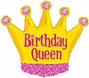 Birthday queen crown wholesale balloon shape for Happy birthday crown template