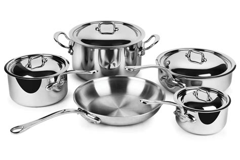 mauviel stainless steel cookware set mcook  piece cutlery