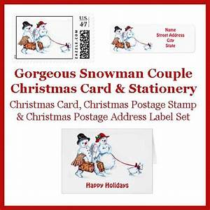 vintage christmas postage stamps matching stationery With christmas cards with matching address labels