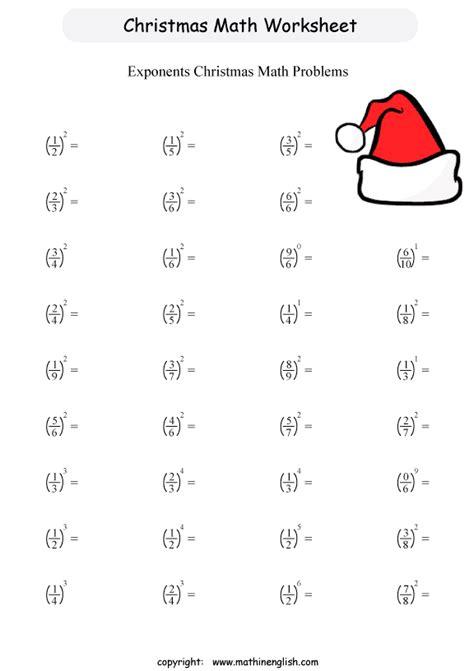 printable christmas math worksheet for grade 6 students
