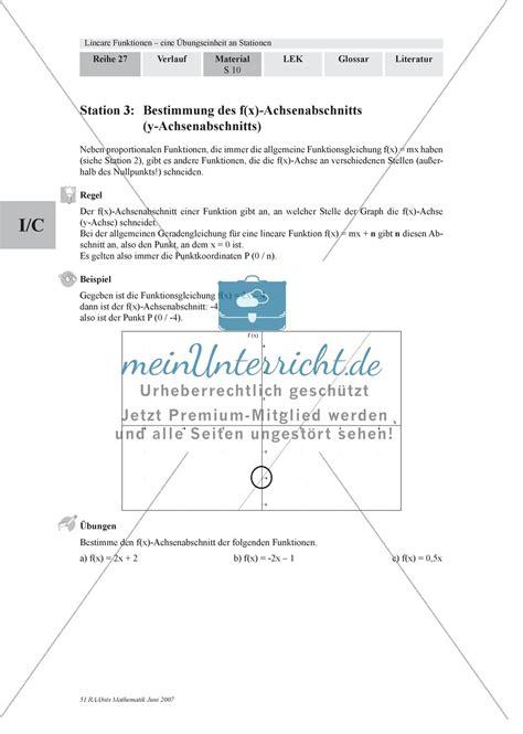 Funktion Und Eigenschaften Der Dfbremse by Linear Funktionen Festigung Und Wiederholung Wichtiger
