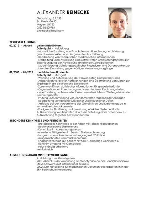 lebenslauf muster manager exemple cv etudiant