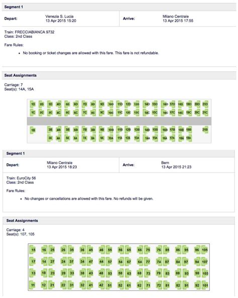 Eurocity Trains Seating Chart