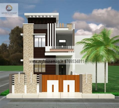 duplex house plans elevation  indian style rumah