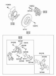 Hyundai Sonata Bolt  Caliper  Mount  Brake  Disc
