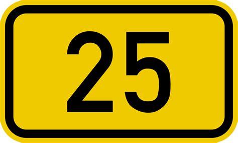 Bundesstraße 25 Number.svg