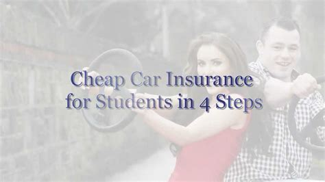 cheap car insurance  students   steps rate digest