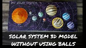 How To Make Solar System Project 3d Model For Kids    Solar System Project Without Balls