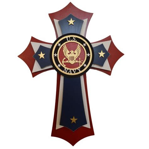 navy wood cross military decorative wall crosses   tall artistic craft supply