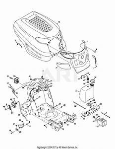 Troy Bilt 13wn77ks211 Pony  2012  Parts Diagram For Hood