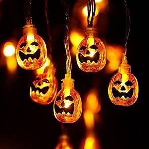 Halloween Deko Außen : qedertek halloween deko lichterkette k rbis form ~ Jslefanu.com Haus und Dekorationen